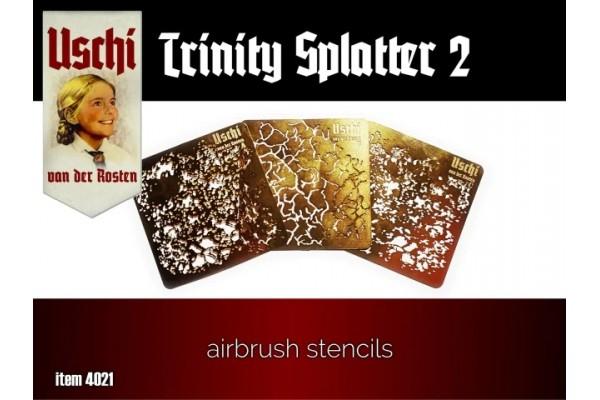 TRINITY SPLATTER 2 airbrush stencils set