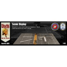 Scenic Display - Wasp Class Amphibious Assault Ship USS Mankin Island LHD-8, rectangularr version 1/48