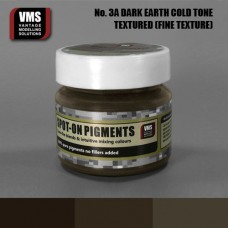 VMS Pigment No. 03a FINE TEX EU Dark Earth Chernozem Cold Tone 45 ml