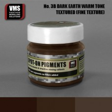 VMS Pigment No. 03b FINE TEX EU Dark Earth Chernozem Warm Tone 45 ml