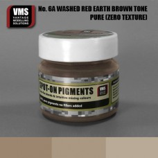VMS Pigment No. 06a ZERO TEX Red Earth Washed Brown Tone 45 ml