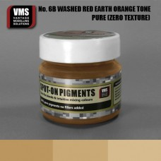 VMS Pigment No. 06b ZERO TEX Red Earth Washed Orange Tone 45 ml