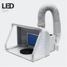 Airbrush Spray Booth 9m³/min with LED lights