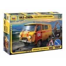 UAZ 3909 Emergency gas service 1/43