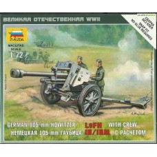 German 105-mm Howitzer LeFH 18/18M with crew 1/72