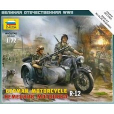 BMW R-12 German Motorcycle 1/72