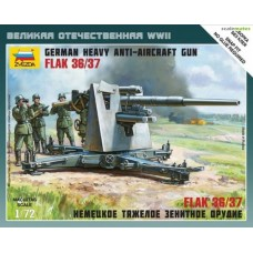 German Heavy Anti-Aircraft Gun FlaK 36/37 1/72