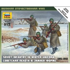 Soviet Infantry in Winter Uniform 1941-1942 1/72