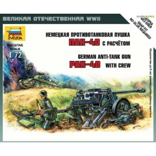 German Anti Tank Gun PAK-40 with Crew 1/72