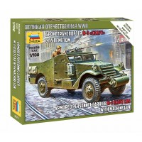 M-3 Scout Car with Machine Gun 1/100